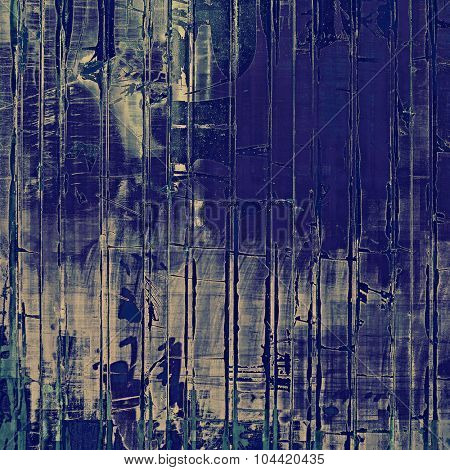 Old grunge antique texture. With different color patterns: blue; gray; cyan