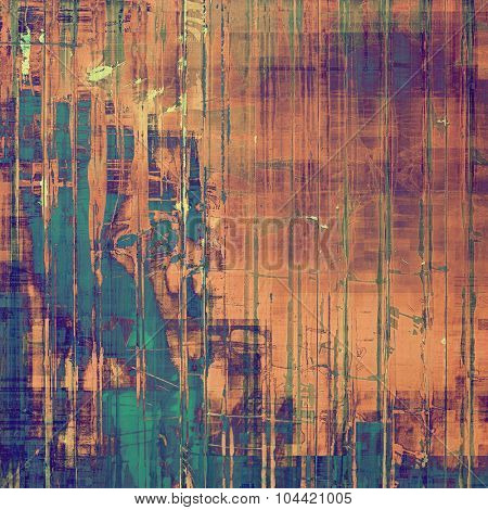 Retro background with old grunge texture. With different color patterns: brown; blue; green; purple (violet)