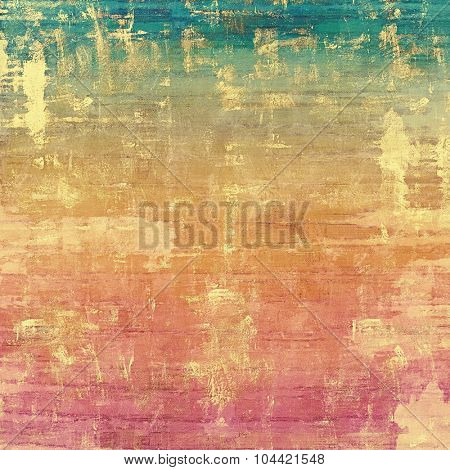 Old, grunge background or ancient texture. With different color patterns: yellow (beige); brown; blue; pink