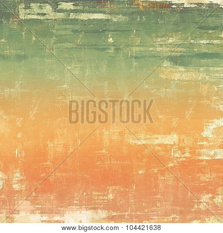 Antique vintage texture, old-fashioned weathered background. With different color patterns: yellow (beige); brown; green; red (orange)