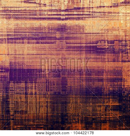 Antique vintage texture, old-fashioned weathered background. With different color patterns: yellow (beige); brown; red (orange); purple (violet)
