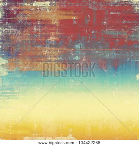 Grunge colorful background. With different color patterns: yellow (beige); brown; blue; red (orange)