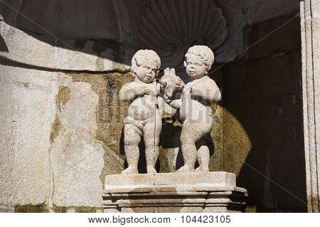 Fountain In The Sanctuary Of Bom Jesus Do Monte, Braga, Nord, Portugal