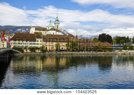 Cityscape Of The City Of Solothurn