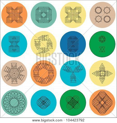 Vector Abstract Geometric Shape Symbol-vector Stock