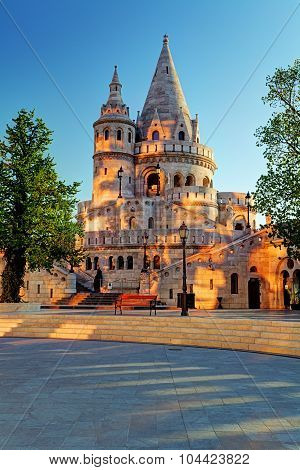 Budapest - Fisherman Bastion At Sunrise