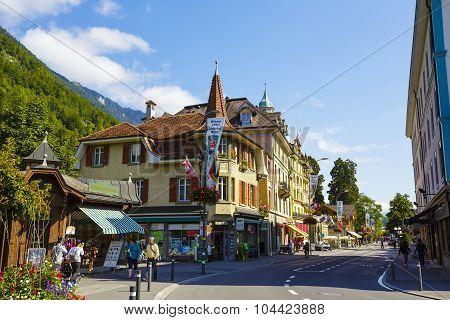 Picturesque Townhouses In Interlaken
