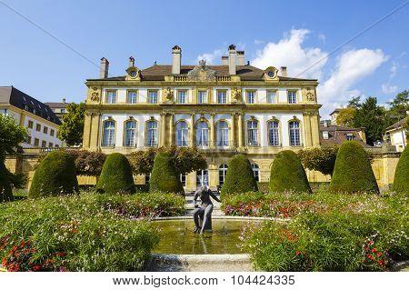 The Palace Du Peyrou In Neuchatel