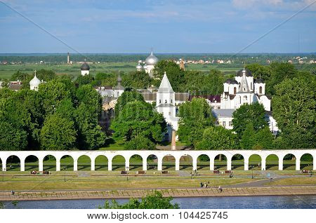 Yaroslavs Courtyard From Bird's Eye View, Veliky Novgorod