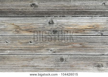 Vintage Fence From Boards Of Larch With The Noble Gray And Red Tint