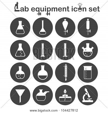 Lab Equipment Icon Set