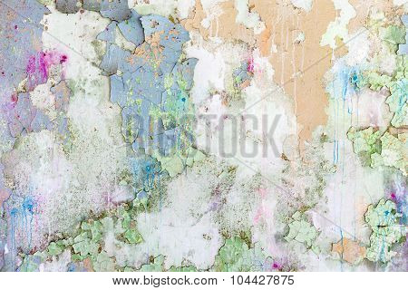 Grunge Colored  Old Concrete Texture Wall