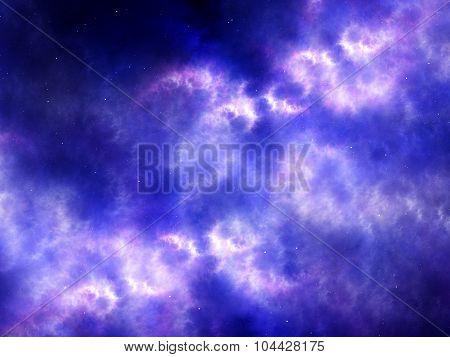 Purple Plasma In Space Fractal