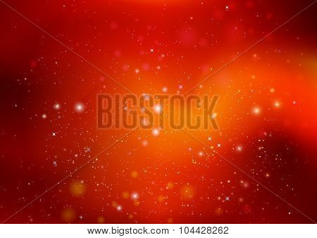 Orange Background With Highlights And Stars