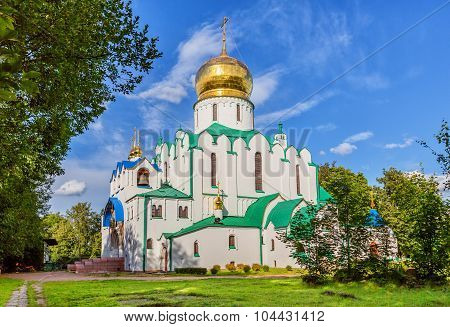 Pushkin, Saint Petersburg/Russia - August 02, 2015: Fedorovskiy Cathedral In Summer Day
