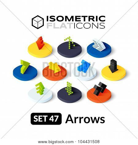 Isometric flat icons set 47