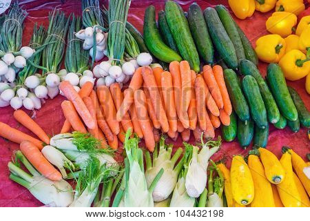Different vegetables at a market