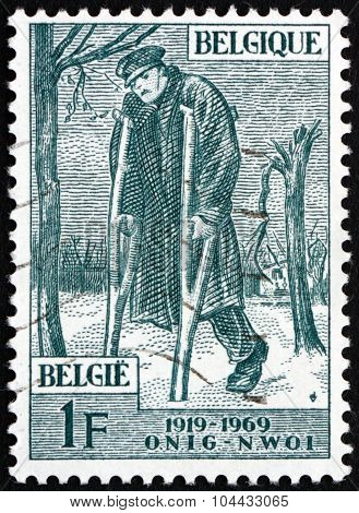 Postage Stamp Belgium 1969 Wounded Veteran