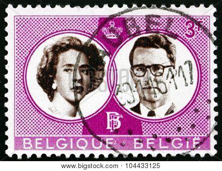 Postage Stamp Belgium 1960 King Baudouin And Queen Fabiola