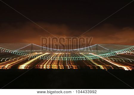 Verrazano Narrows Bridge Illumination