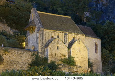 Church In La Roque-gageac, Dordogne, Aquitaine, France