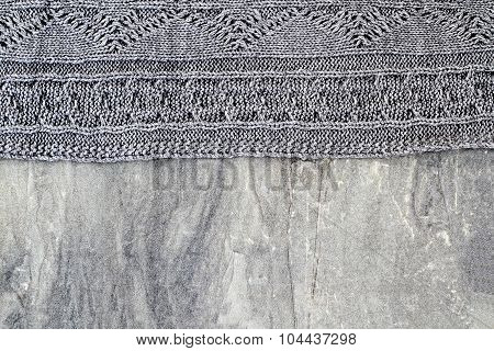 Sweater And Stone Background