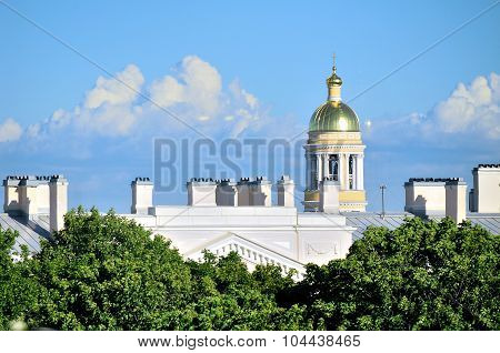 The Bell Tower Of The Cathedral Of Our Lady Of Vladimir In Saint-petersburg, Russia