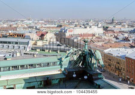 Panorama Of St. Petersburg From Birds-eye View