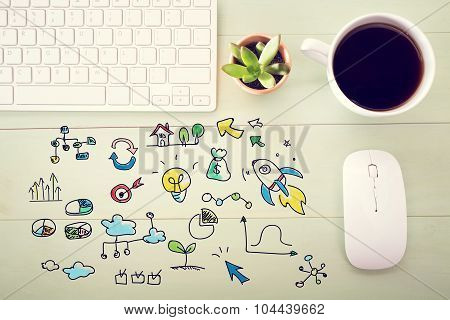 Creativity Concept With Workstation