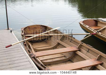 Docked Row Boat