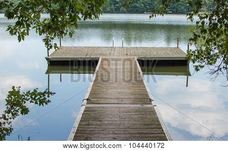 T Shaped Dock On Lake