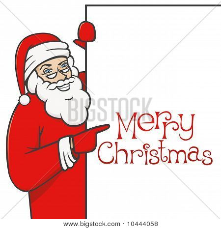 Santa Claus With Blank Sign 01