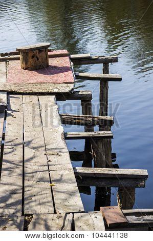 Pier In Still River