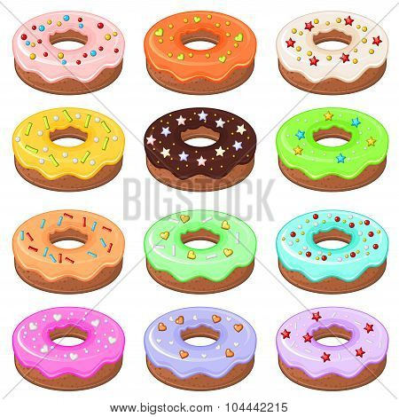12 Donuts With Sprinkles