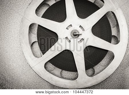 Movie Reel In Black And White Vintage Style