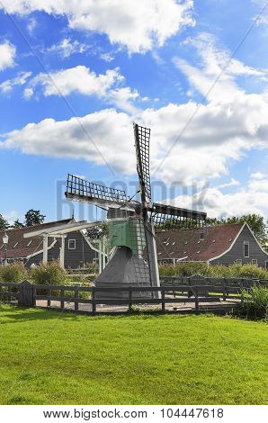 Traditional Dutch windmill.