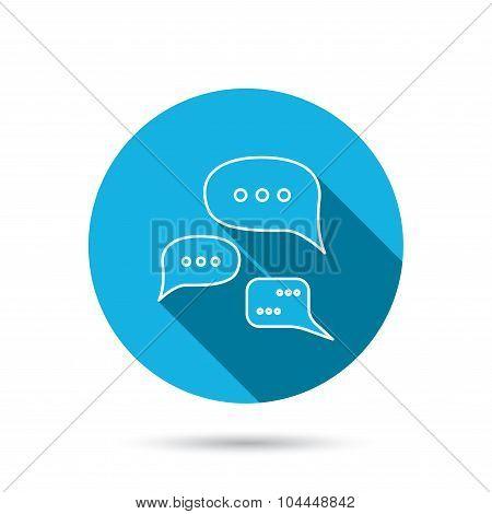 Conversation icon. Chat speech bubbles sign.