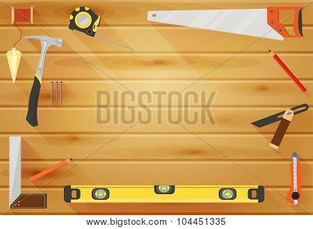 Carpenter Tools flat background