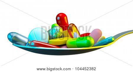 Dose of colorful pills