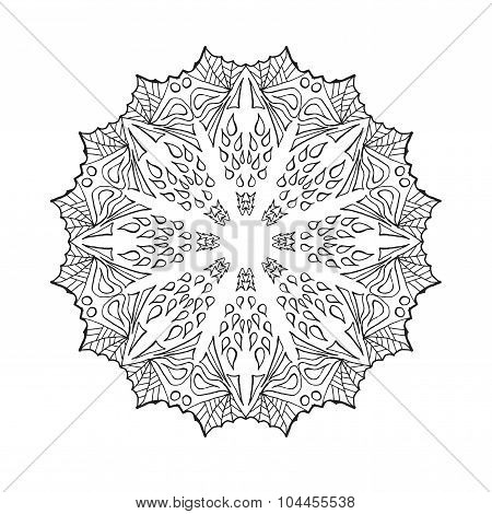 Mandala. Ethnic abstract decorative elements.