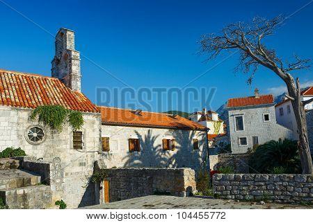 Streets Old Town. Budva, Montenegro, Balkans