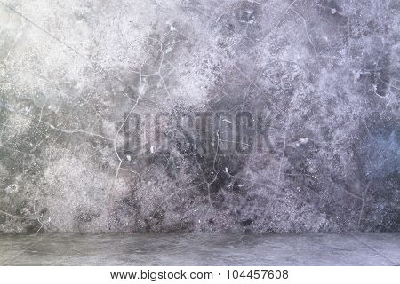 Concrete Floor And Concrete Wall