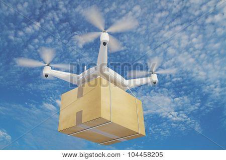 Illustration Quadrocopters Deliver