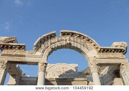Ephesus antique ruins of the ancient city in Turkey