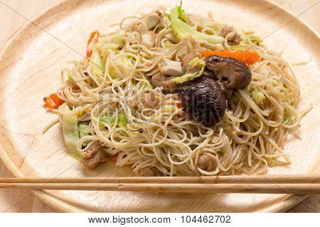 Stir Fried Noodles, Hong Kong Style