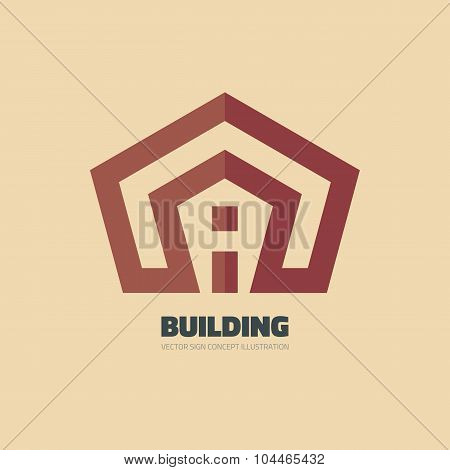 Building - vector logo concept illustration. Real estate logo. Home logo. House logo.
