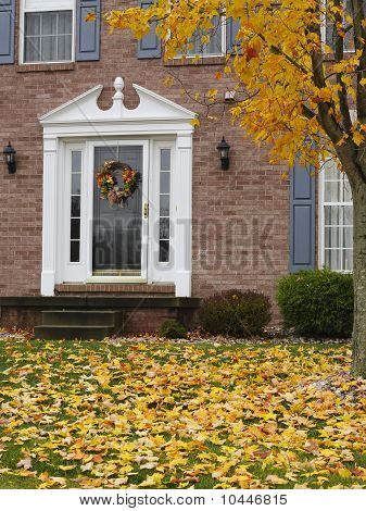 Inviting Home In Autumn
