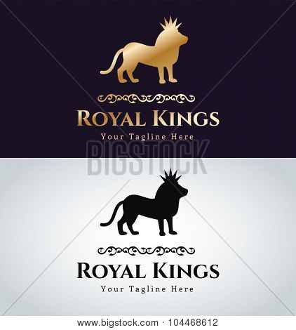 Royal logo vector logo. Lion logo. Kings symbol. Royal crests monogram.