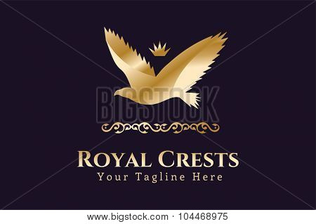 Royal logo vector logo. Eagle logo. Kings symbol. Royal crests monogram.