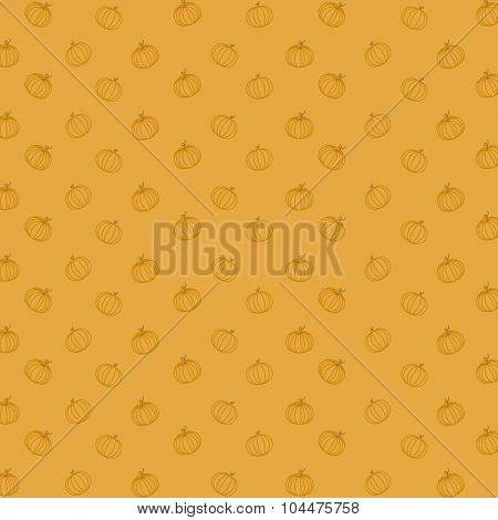 Pumpkin seamless pattern vector design. Food Background